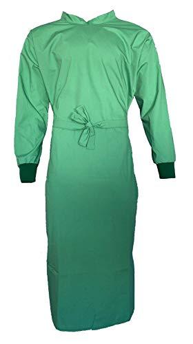 OP-Kittel grün, blau - 50% Baumwolle / 50% Polyester- wiederverwendbar - OP-Mantel OP-Kleidung OP-Bekleidung (blau, M)