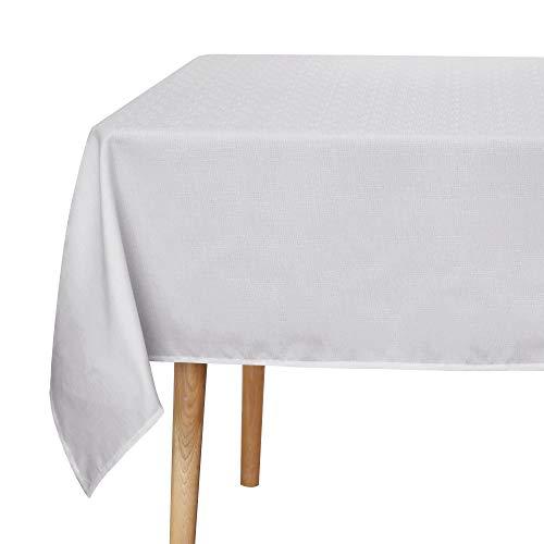 Amazon Brand - Umi Manteles de Mesa Rectangular de Tela de Cocina Comedor 130 x 220 cm Gris Claro