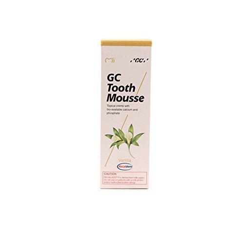 GC Tooth Mousse Pasta de dientes 35 ml de vainilla, Pack de 2 (2x 35ml)