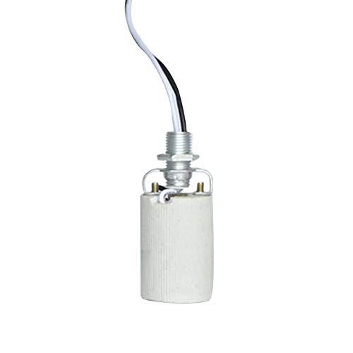 Base de lámpara para bombilla resistente al calor y soporte de instalación duradero, con adaptador de cable, luz LED y casquillo de cerámica E27 E14 uso doméstico (E14)
