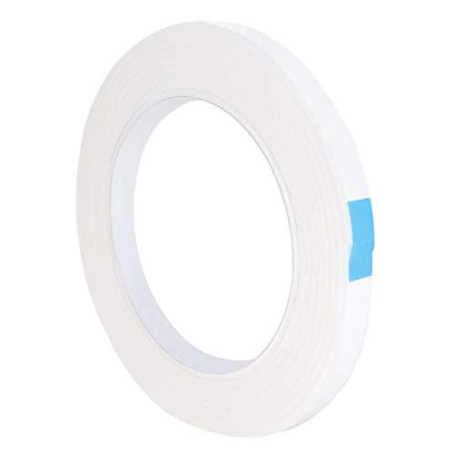 MONTAGEKLEBEBAND DOPPELSEITIG | 2 mm dick | 2 m auf Rolle | Stark klebend | Weiß / 9 mm Breite