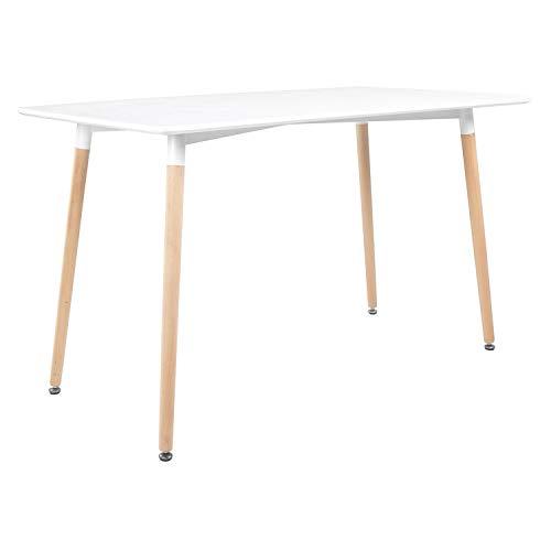 Happy Garden Table rectangulaire 120 × 70cm Blanche PIA