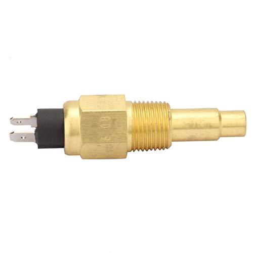 Temperature Sensor, 3/8 NPT 3W 103℃ Brass Engine Water Temperature Sensor Generator Part Fit for VDO