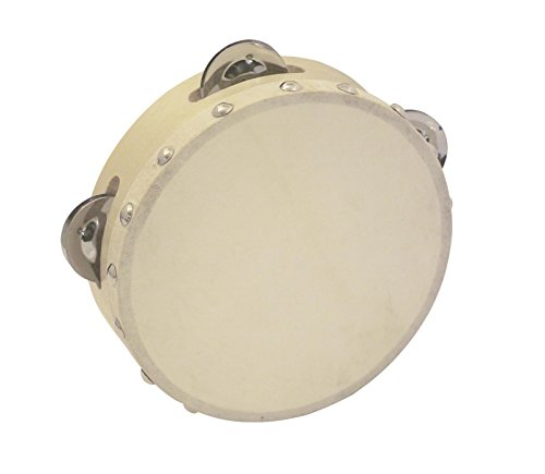Pandereta HOLLOW con 4 pares de sonajas, madera, 15cm - Instrumento de mano /Aro de sonajas - klangbeisser