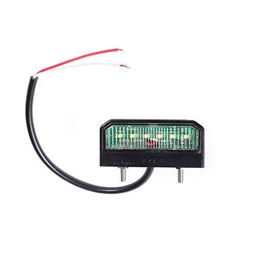 ETUKER Weiße Helle LED Kennzeichenbeleuchtung 6 LED Chips, 12V-24V Universal Wasserdichte Energiesparende LED Kennzeichenleuchte, Für LKW/Anhänger/RV/Cars/Motorrad/Kennzeichenbeleuchtung(6 LED-Chips)