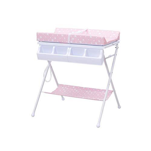 Wickeltisch, faltbarer tragbarer Neugeborener Babypflege-Tisch, Multifunktionsmassagebad (sicher und stabil, faltbares tragbares, verstärktes Stahlrohr)
