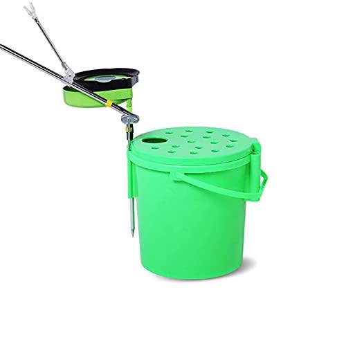 WDFDZSW Cubo de Pesca Espesado Multifuncional se Puede Utilizar para Pescar Cubo Cubo Caja de Pesca Silla de Pesca Cubo de Pesca Guardia de Pesca cubeta baldea de balde (Color : Green)