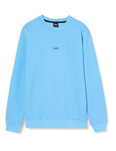 BOSS Mens Weevo Sweatshirt, Turquoise/Aqua (440), M
