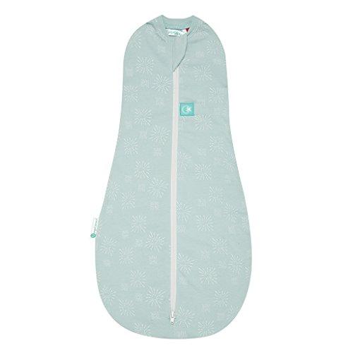 ergoPouch Cocoon, Sommerschlafsack Baby, Pucksack Baby, Schlafsack, Sommer - Tog 1.0 - Grün - 0-3 Monate