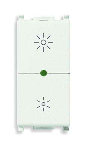 Vimar 14135.1 Dimmer Regolatore Universale Incandescenza, CFL 1 e Lampade LED, Bianco, 230 V