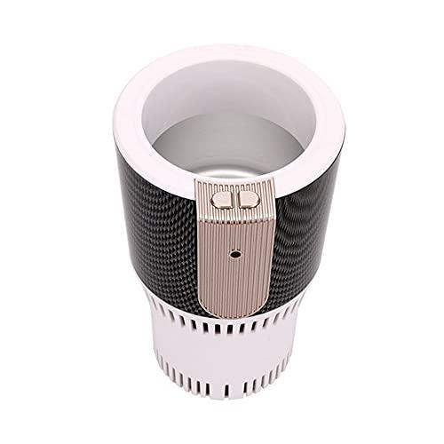 Newut Soporte de Taza de Taza de enfriamiento de calefacción de Coche portátil Inteligente con Pantalla LED de Temperatura para Viaje por Carretera al Aire Libre,Blanco