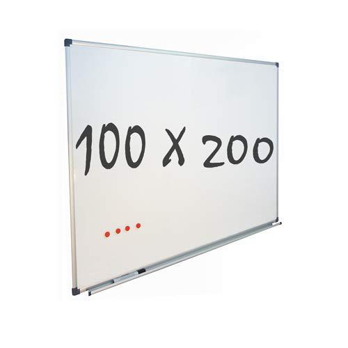 Vivol Eco Magnetic Whiteboard 100x200 | Aluminium Rahmen | Magnettafel Whiteboardwand Magnetwand | Stiftablage | 14 Größen | Magnetisch und Beschreibbar