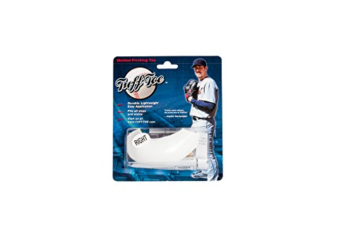 Molded Tuff Toe Pitchers Cleat Guard Protector (Right Cleat, White)