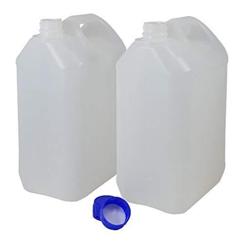 Bidón Garrafa Plástico 5 litros. Homologado para transporte. (2 Unidades)
