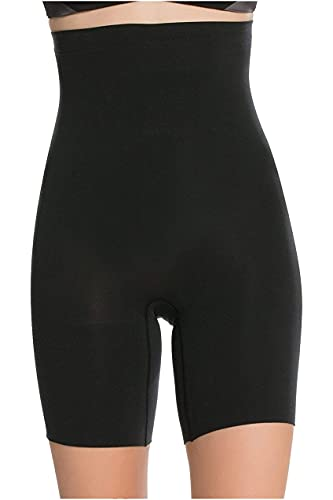 SPANX Shapewear for Women Tummy Control High-Waisted Power Short (Regular and Plus Size, Black, LG)
