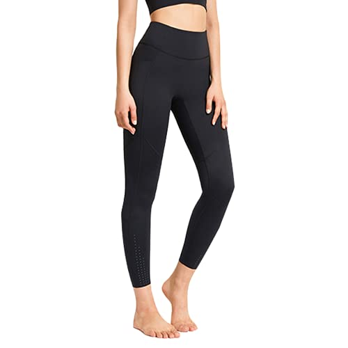 QTJY Pantalones de Yoga sin Costuras para Mujer Push-ups Celulitis Running Fitness Pantalones Yoga Cintura Alta Energy Workout Leggings C XL