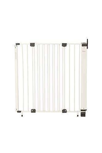 Geuther - Treppenschutzgitter Purelock aus Metall für Kinder/Hunde, Befestigung mit Schrauben/Klemmen am Geländer, verstellbar, 61 - 107 cm