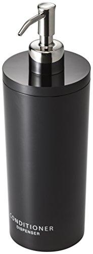 Yamazaki Tower - Dispensador de Botellas para Ducha, Redondo, Color Negro y Plateado