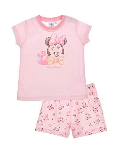 Minnie Pyjama Court Coton bébé Fille Blanc et Rose de 12 à 30mois - Rose, 30 Mois