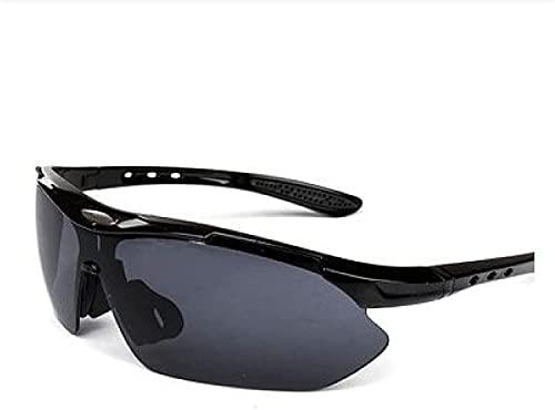 Litcom Bicicleta Gafas A Prueba De Viento Deportes Al Aire Libre Polarizados para Correr Equipo para Hombres Y Mujeres Gafas para Bicicleta De Montaña (Black Glasses)