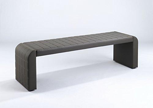 CAVADORE Vorbank COBRA / Küchenbank 140 cm breit in schlamm / Moderne, gepolsterte Sitzbank / Kunstleder-Bank schlamm braun / Bank ohne Lehne / Sitzmaß : 140 cm / 162 x 50 x 48,5 cm (B x T x H)