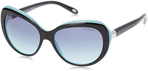 Tiffany & Co. vrouwen 0TY4122 80559S 56 zonnebril, zwart/blauw/Blueegradient