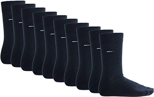 Brandsseller 10 Paar Business Socken Herren Baumwolle 43-46, Dunkelblau