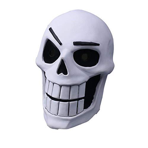 GYJZZW Statue Skulptur Ornamente Dekoration Spiel Undertale Ohne Maske Cosplay Kinder Adlut Leuchtende Papyrus Masken Halloween Fancy Ball Ohne Latex Helm Kostüm Requisiten, Papyrus Für Erwachsene