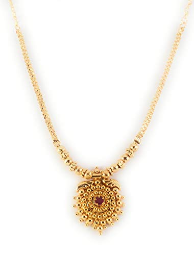 Afj Gold 1 Gram Micro Gold Plated Traditional Designer Fashion Jewellery Ruby Stone Necklace For Women Amp Girls Ogt Nec3008 Price In India Coupons And Specifications Scandid On 21 08 2020