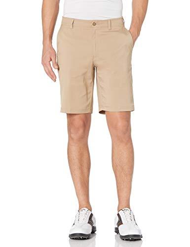 PGA TOUR Men's Flat Front Active Waistband Golf Short, Chinchilla, 30