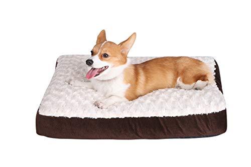 ペットベッドペットマットペットソファスクエアベッド犬猫クッション犬用猫用ケージ用敷物防寒滑り止め洗える肌触りのよい柔らかい眠りクッション寝心地がよいブラウンM