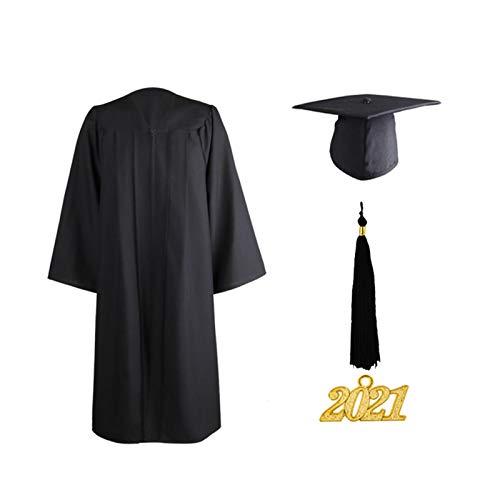 Magent Abschluss Kostüm Komplett-Set Mit Akademischer Abschluss Talar, Hut & Quaste 2021 Für Hochschule Und Bachelor