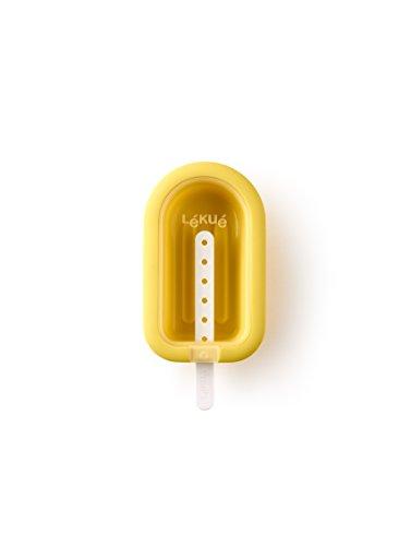 Lékué Eisform XL stapelbar in gelb, Silikon, 16.5 x 7.5 x 2.6 cm