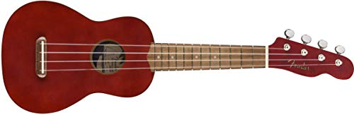 Fender Venice - Ukelele soprano, color cereza