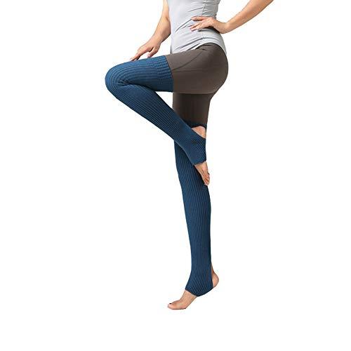 LOVARTS BEAUTY Damen Stulpen Frauen Yoga Socken Gestrickt Beinstulpen   Beinwärmer mit Fersenloch für Tanz,Pilates,Fitness (Cyan)
