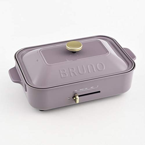 BRUNO ホットプレート コンパクトサイズ パープル 平面 たこ焼きプレート セット