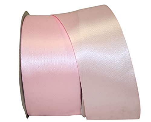 Reliant Ribbon Double Face Satin - Dfs Ribbon, 2-1/2 Inch X 50 Yards, Light Pink