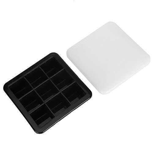Moule à glace, Delaman 9 grilles bricolage plateaux à glace en Silicone congeler le moule à pudding moule à bonbons au chocolat avec couvercle accessoires de cuisine
