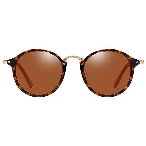 MGWA Gafas de sol polarizadas de policarbonato con montura de carey verde/marrón lentes para hombres y mujeres con la misma conducción (color: marrón)