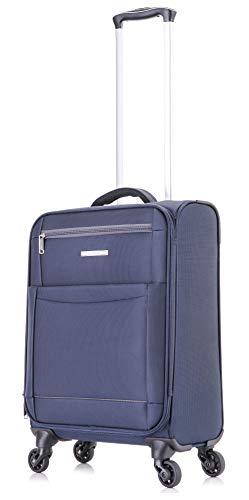 DK Luggage Starlite Lightweight WLS Cabin 20' Suitcases 4 Wheel Spinner Navy