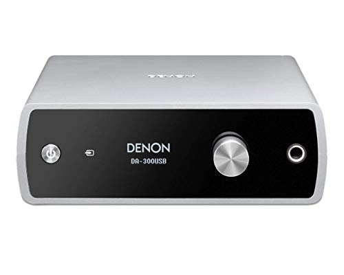 Denon DA-300USB High Definition D/A-Wandler (DAC 32Bit/192kHz, USB-B, Coaxial, Optical) silber