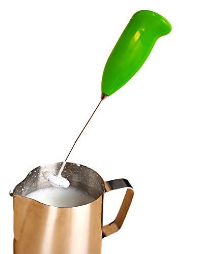 Montalatte a batteria per cappuccino, schiumalatte elettrico per caffè, latte macchiato, utensile da cucina, miscelatore per bevande in colore verde