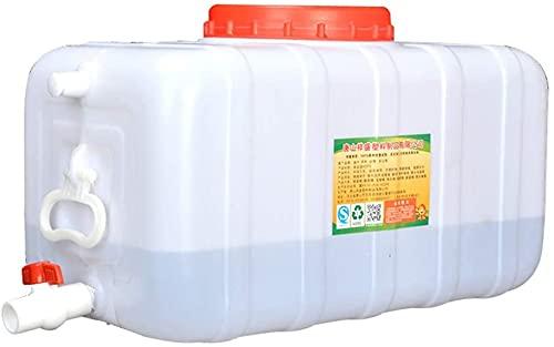 WXking Tanques de almacenamiento de agua de gran capacidad para exteriores, cubos de almacenamiento de plástico cuadrados con tapas, recipientes de almacenamiento de agua grande con grifos, tanques de