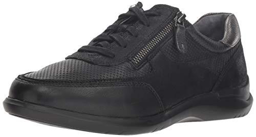 Aravon Women's Power Comfort TIE Sneaker, Black, 8.5 Wide