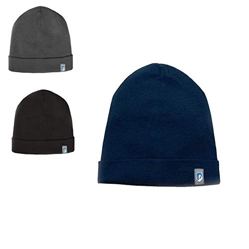 Alpin Loacker 2 Layer Merino Mütze | Beanie aus 100% Merinowolle | 3 Farben zur Auswahl für Damen und Herren | Sport Kappe blau