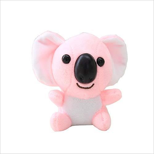 SongJX-Love Gzzxw. Cartoon Mini Plüschtiere, Kuscheltiere Fluffy Netter Koala-Bären-Plüsch-Abenteuer-Puppe, Geburtstagsgeschenk Schlüsselanhänger Anhänger 10cm (Pink)