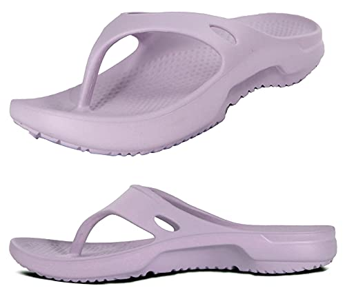Orthotic Archies Supportive Fit Thong Sandals Women Flip Flops Cloud Foam Healing Sole Recovery Sandal Casual Summer Pool Slides Shower House Shoes Purple Size 6 Men Size 4 Rubber Pain Relief Slipper