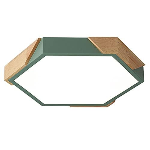 Lámpara De Techo Ultrafina Minimalista Moderna Para Comedor Y Dormitorio Iluminación Empotrada De Tres Colores Con Atenuación De Luz De Techo De Madera De Metal Creativa Lámpara Geométrica Cálida CSSY