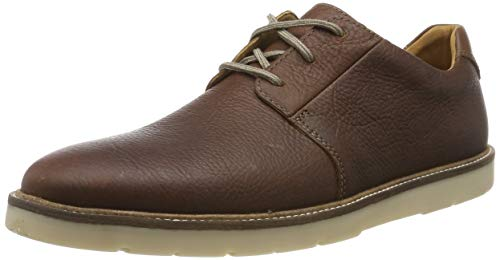 Clarks Grandin Plain, Zapatos de Cordones Derby para Hombre, Marrón (Tan Leather Tan Leather), 42.5 EU