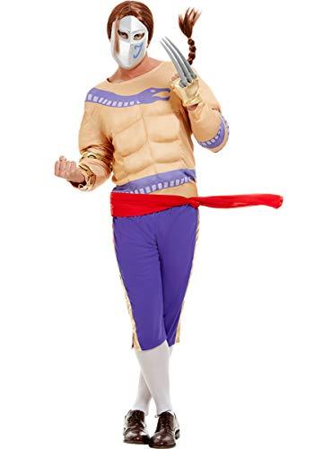 Funidelia | Disfraz de Vega - Street Fighter Oficial para Hombre Talla L ▶ Videojuegos, Años 80, Arcade - Morado